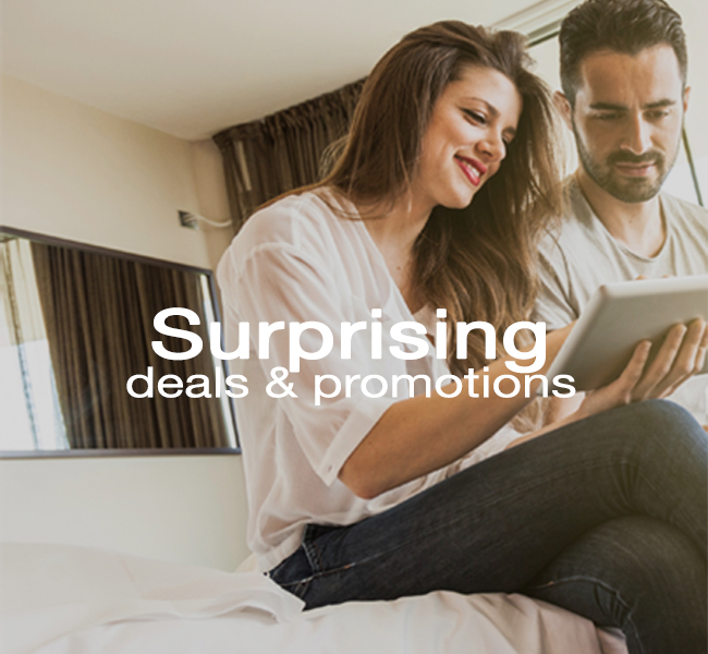Surprising, promotions and deals for everyone