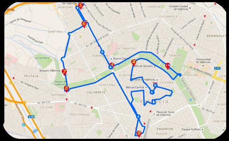 ruta A historica