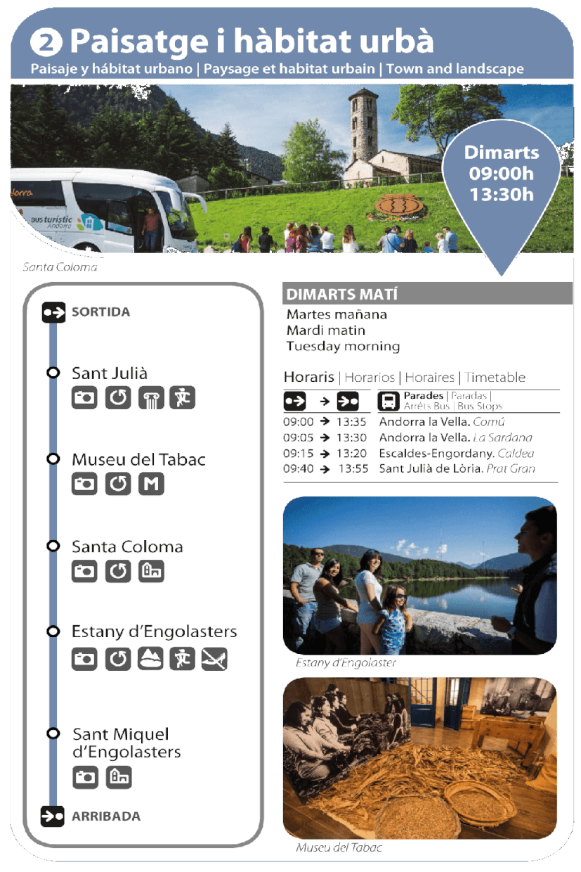 Bus Turistic dimarts estiu