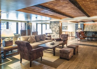 Patagonia salon chimenea